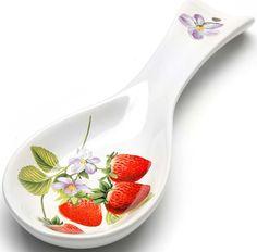 """Кухонная подставка Loraine """"Клубника"""", цвет: белый, красный, зеленый. 28164"""