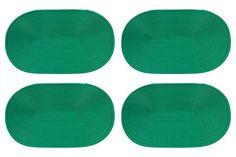Салфетка столовая Elan Gallery Плетение, зеленый