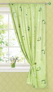 "Штора готовая для кухни ""Garden"", на ленте, цвет: зеленый, размер 145*180 см. С 6232 - W1223 V30"