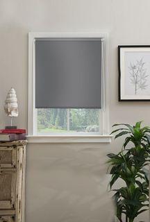 """Штора рулонная Эскар """"Миниролло. Blackout"""", светонепроницаемые, цвет: серый, ширина 43 см, высота 170 см"""
