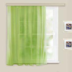 Штора вуаль Witerra, на ленте, цвет: светло-зеленый, 140 х 180 см