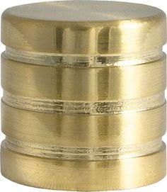 """Наконечник для карниза Уют """"Цилиндр-3"""" 17.21ТО.0300, латунь, диаметр 16 см, 2 шт"""