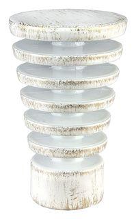 """Наконечник для карниза Уют """"Конус Скан"""" 22.21ТО.2395, белый, золото, диаметр 20 см, 2 шт"""