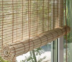 """Штора рулонная Эскар """"Бамбук"""", цвет: натуральный микс, ширина 50 см, высота 160 см"""