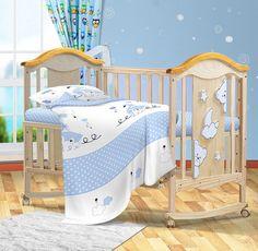 Комплект постельного белья детский Bonne Fee ОДР-110х140/2, голубой