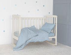 Комплект постельного белья детский Bonne Fee ОПДР-110х140/4, голубой