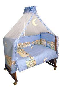 """Комплект детского постельного белья """"Лежебоки"""", цвет: голубой, 3 предмета Сонный гномик"""