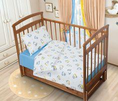 Детский комплект постельного белья Tatkraft Овечка Ламми, перкаль, цвет: голубой