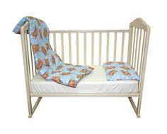 Комплект одеяло 110х140 см. + подушка 40х60 см., Soft Story Мишки в облаках