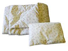 Комплект одеяло и подушки ПАПИТТО П-01-02, слоновая кость