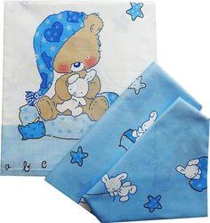 Комплект белья для новорожденных Комплект постельного белья детский 0004, голубой ПАПИТТО