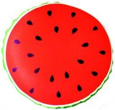 Подушка декоративная антистрессовая Смайл-фрукты. Арбуз, красный