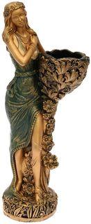 """Фигура садовая """"Лесная фея"""", цвет: зеленый, 34 х 33 х 86 см Хорошие сувениры"""