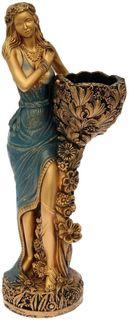 """Фигура садовая """"Лесная фея"""", цвет: синий, 34 х 33 х 86 см Хорошие сувениры"""