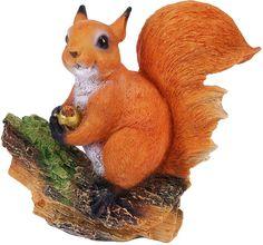 """Фигура садовая """"Белочка с орешком на пне"""", 28 х 10 х 25 см Хорошие сувениры"""