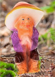 """Фигура садовая """"Гном-лесовик в коричневых штанах"""", 12 х 15 х 30 см Хорошие сувениры"""