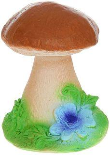 """Фигура садовая """"Гриб с цветком на травке"""", 12 х 12 х 15 см Хорошие сувениры"""