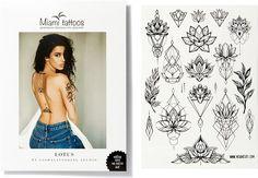 Miami Tattoos Переводные тату Lotus by SashaTattooing Studio 1 лист 29,7 см x 21 см