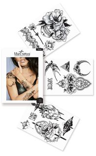 "Miami Tattoos Комплект переводных тату ""Wicked"", 3 листа, 20 х 15 см"