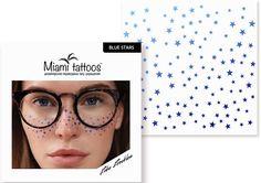 Miami Tattoos Переводные тату-веснушки Blue Stars