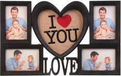 Фоторамка Любовь в моем сердце, на 4 фото, 2985498, черный, 32 х 51 х 2,6 см Хуанганг Джиаши Текстайл Импортс Энд Экспортс Ко., Лтд