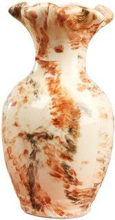 """Ваза Керамика ручной работы """"Барселона"""", цвет: белый, большая"""