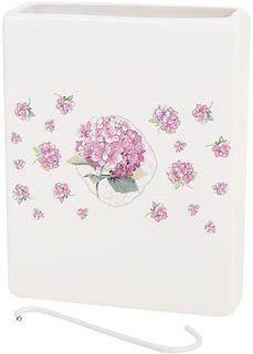 """Ваза декоративная Nouvelle De France """"Розовая гортензия"""", подвесная, цвет: белый, высота 14 см"""
