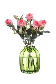 Ваза IsmatDecor Стеклянная ваза, ST-5 зеленый, зеленый
