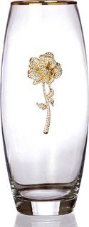 """Ваза Lefard """"С золотой каймой"""", 802-138416, прозрачный, высота 26 см"""