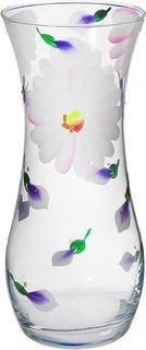 """Ваза Керамикс """"Радужные лепестки"""", 1364798, прозрачный, розовый, 10,5 х 10,5 х 25,5 см"""