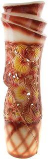 """Ваза Керамика ручной работы """"Иллюзия"""", 911145, коричневый, 20 х 20 х 72 см"""