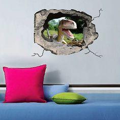 """Украшение для стен и предметов интерьера с 3D эффектом Hole """"Динозавр"""" Nisha"""