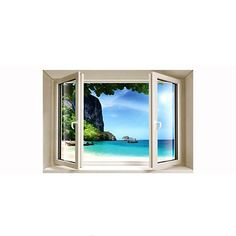 """Украшение для стен и предметов интерьера с 3D эффектом Window """"Райский остров"""" Nisha"""