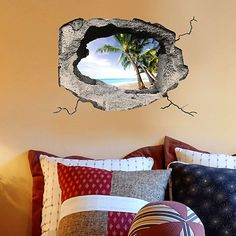 """Украшение для стен и предметов интерьера с 3D эффектом Hole """"Тропический остров"""" Nisha"""