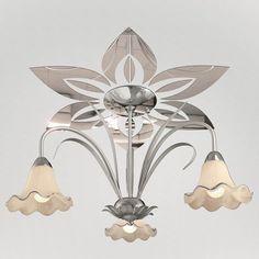 """Декор под люстры Ваша Светлость """"Лилия-6"""" зеркальный, 2-00401CR, хром"""