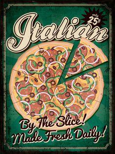 """Картина на мдф Экорамка """"Pizza"""", 30 x 40 см"""