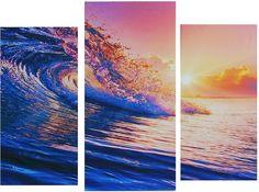 """Картина Сюжет """"Волна"""", модульная, 1722578, 60 х 80 см"""