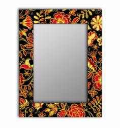 Зеркало интерьерное Дом Корлеоне Зеркало настенное Цветочная поляна 80 х 80 см