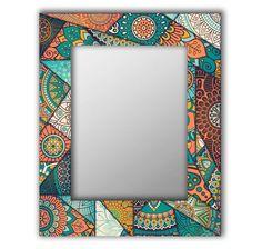 Зеркало интерьерное Дом Корлеоне Зеркало настенное Бирюзовый калейдоскоп 55 х 55 см