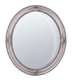 Зеркало настенное ANTIQUE Зеркало в деревянной раме с фацетом, 62x72х3,5см,Silver, серебристый