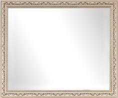 Зеркало в багетной раме АФИНА 40Х50 см, белый/золото