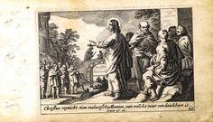 Гравюра Питер Схют Новый Завет. Исцеление десяти прокажённых. Резцовая офорт. Нидерланды, Амстердам, 1659 год