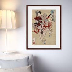 Картина Картины В Квартиру Самурай №1, 1900г, Бумага