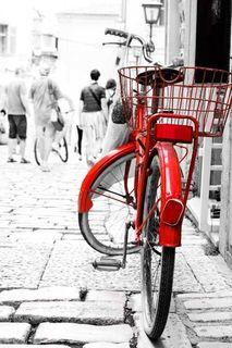 Картина Экорамка Красный велосипед, Холст