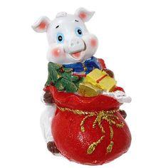 """Копилка """"Свинка с мешком подарков"""" высота 10,5см Triumph Xmas"""