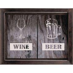 Копилка для пробок Дубравия Beer/Wine двойная, KD-024-152, венге, 22 x 26 см
