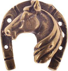 Денежный сувенир Miland Подкова с лошадью, Т-6987, золотой