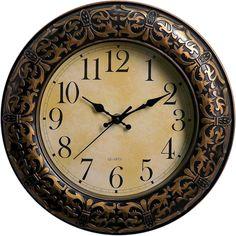 """Настенные часы """"Космея"""", 3565202, бронза"""