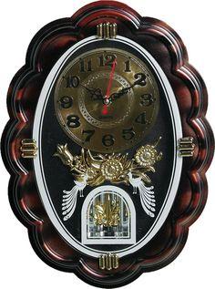 """Настенные часы """"Павлины"""", 3565198, коричневый"""