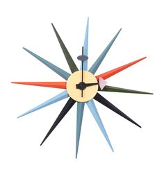 Настенные часы Bradex FR 0080, голубой, оранжевый, черный